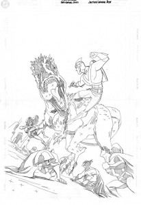 JL Adv #25 cover pencils