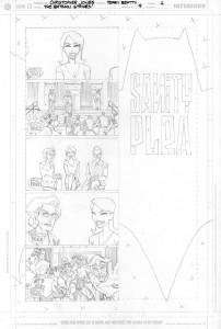 Strikes #9 - Title Page Pencils
