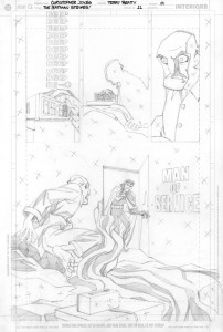 Strikes #11 - Title Page pencils