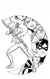 young justice coloring pages - artemis young justice coloring pages