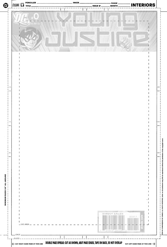 Marvel Comic Book Cover Template : Creating a cover young justice christopher jones