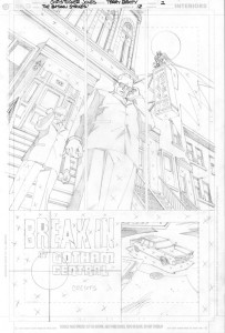 Strikes #12 Title Page pencils