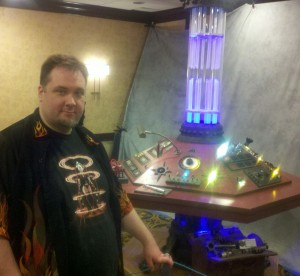 Chris and TARDIS Console
