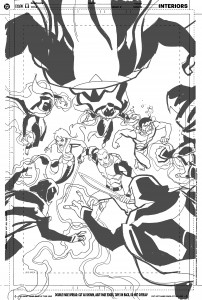 Young Justice #14 - cover rough 1
