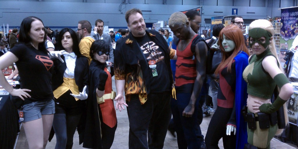 Chris &amp; Young Justice cosplayers at C2E2