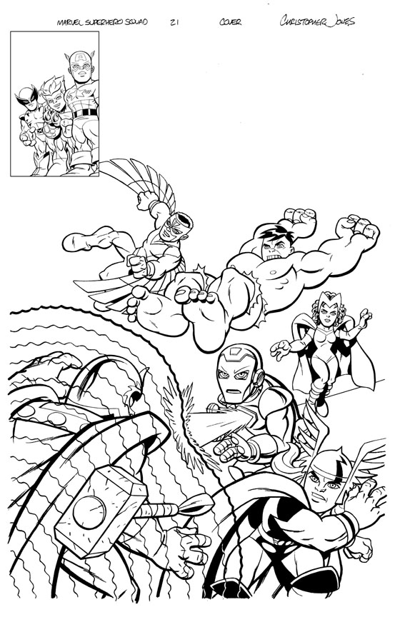 Squad Cover #21 inks