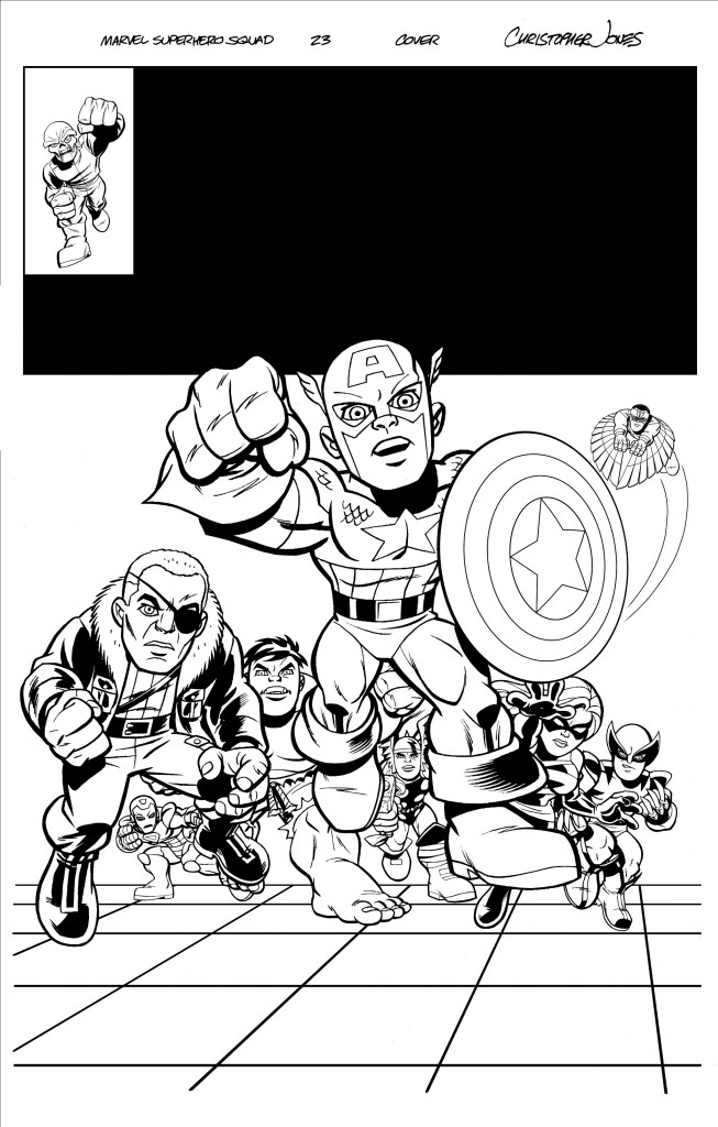 Squad Cover #23 inks