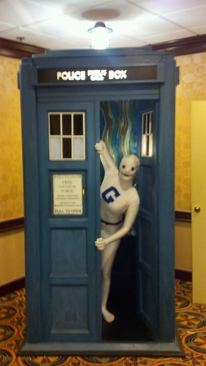 Hal as the Greendale Human Being in the TARDIS
