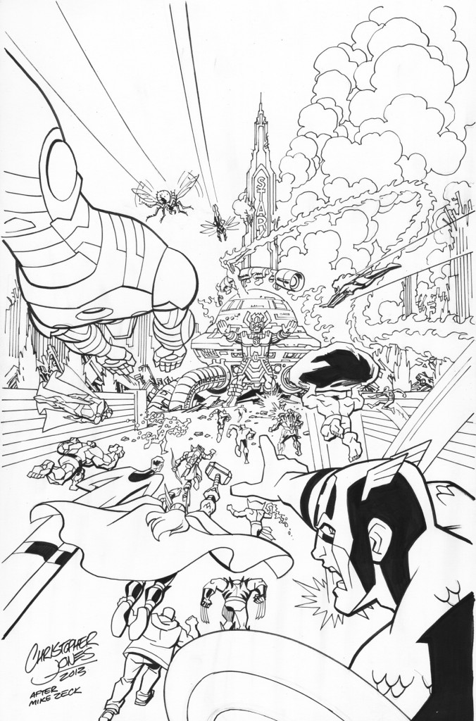 Avengers Secret Wars inks prev