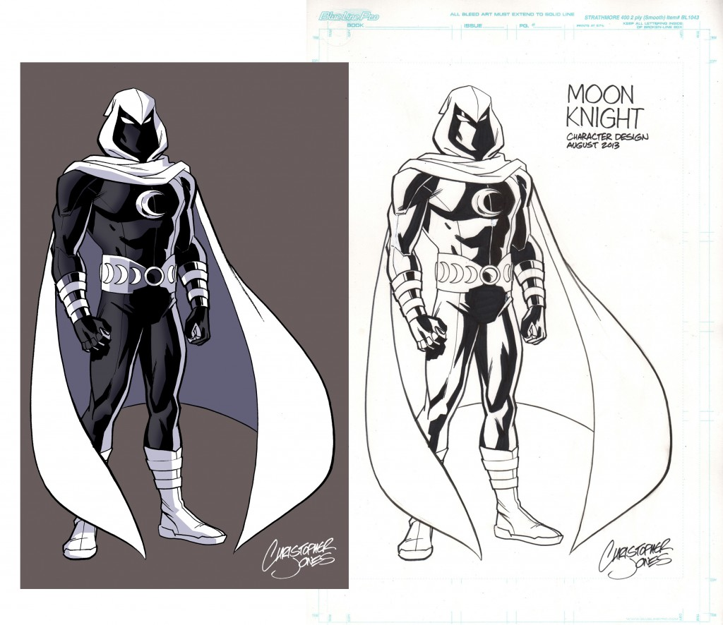 Moon Knight design color & line