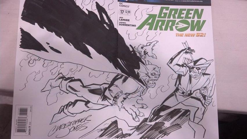 CCE13 Sketch - Etrigan Green Arrow