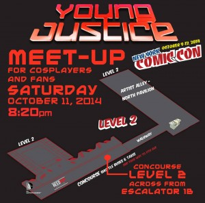 NYCC 2014 YJ Meet Up Map