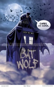 Bat Wolf Art Print