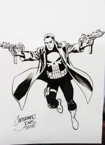 Sketch - The Punisher figure